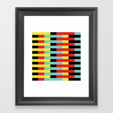 Yellow, Red, Blue Layers (2013) Framed Art Print