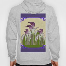 ART NOUVEAU CALLA LILIES PURPLE MODERN ART DESIGN Hoody