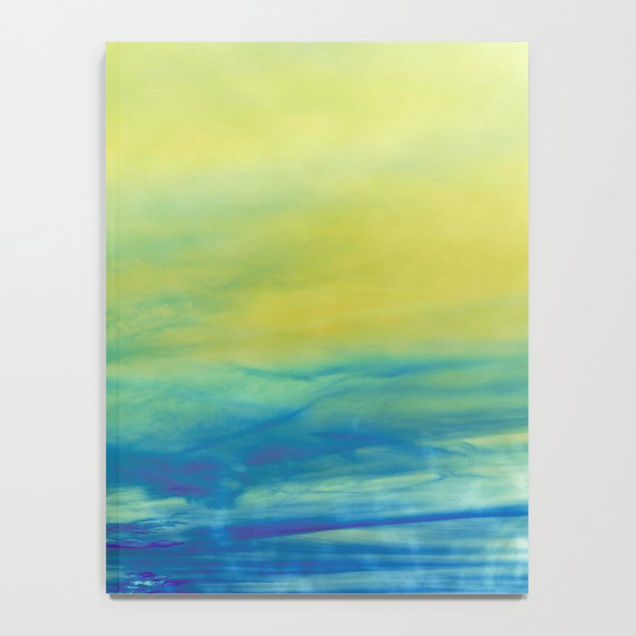 YELLOW & BLUE TOUCHING #1 #abstract #art #society6 Notebook