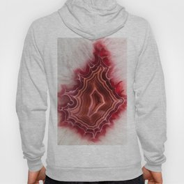 Earth teasures - Bloody red agate pattern Hoody