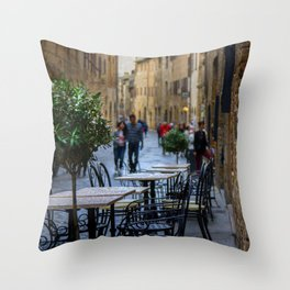 San Gimignano Cafe Throw Pillow