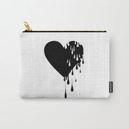 Bleeding Black Heart Carry-All Pouch