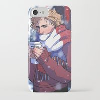 enjolras iPhone & iPod Cases featuring Winter Enjolras by rdjpwns