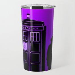 Tardis With The Fourth Doctor Travel Mug