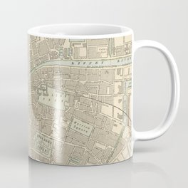 Vintage Map of Dublin Ireland (1901) Coffee Mug