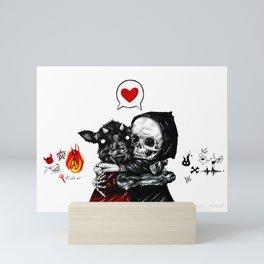 My dark and evil BFF Mini Art Print
