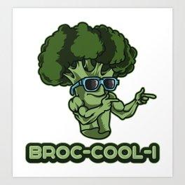 BROC-COOL-I | Broccoli Plant Vegetables Vegan Art Print