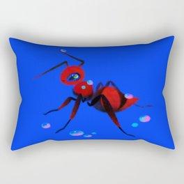 Red velvet ant Rectangular Pillow