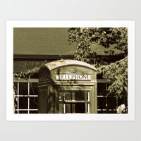 telephone Art Prints featuring Telephone by Irène Sneddon
