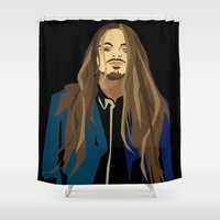 gangster Shower Curtains featuring Gangster by Elena Medero