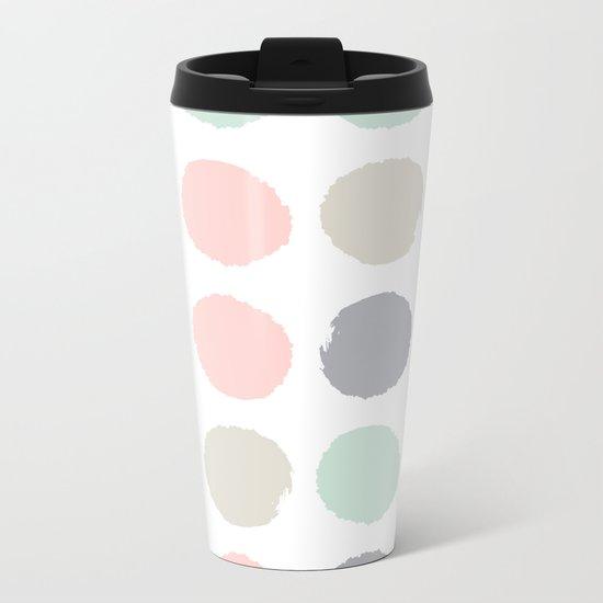 Hayes - minimal dots gender neutral baby modern nursery art decor trendy Metal Travel Mug