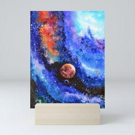 Galaxy landscape Mini Art Print