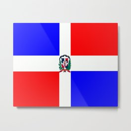 Flag of Dominican Republic Metal Print