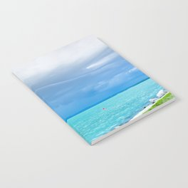 Before summer storm at a turquoise lake Notebook