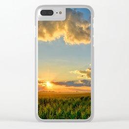 Iowa Corn Fields Clear iPhone Case