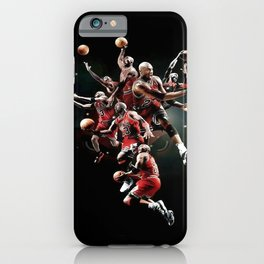 Michae-l Jordan, MJ Free Throw BW Line Dunk  iPhone Case