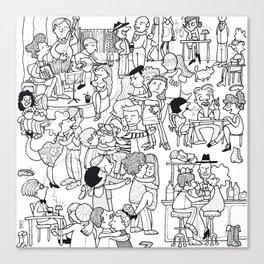 Milonga Canvas Print