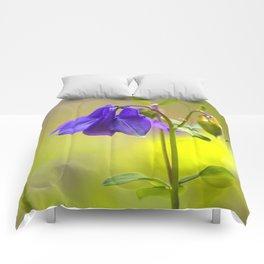 Purple Columbine In Spring Mood Comforters