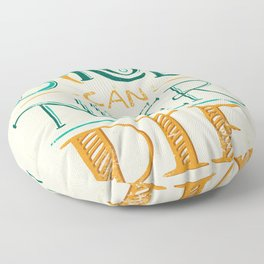 Rock & Roll Can Never Die - Neil Young Floor Pillow