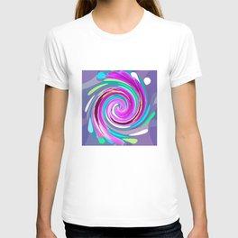 Purple twirl T-shirt