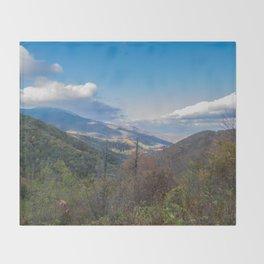 Blue Ridge Peaks Throw Blanket