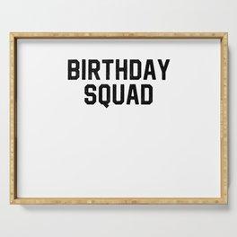 Birthday Squad Serving Tray