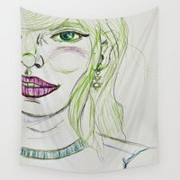 fancy Wall Tapestries featuring Fancy Girl by writingoverashes