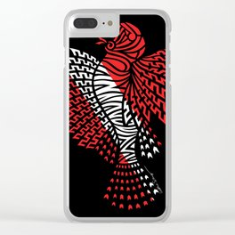 Tribal Scuba Flag Lionfish Clear iPhone Case