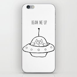 Beam Me Up iPhone Skin
