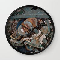 clear Wall Clocks featuring Clear Water by Yuliya