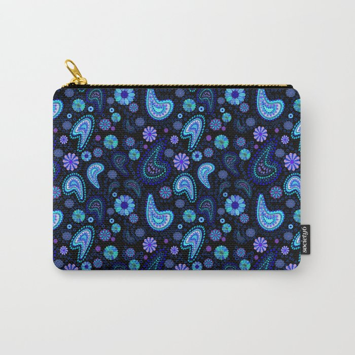 Paisley Power (Black Background) Carry-All Pouch