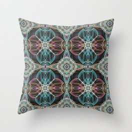 Art Deco 43 .Multicolored abstract pattern . Throw Pillow