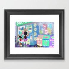 Pop Station Framed Art Print