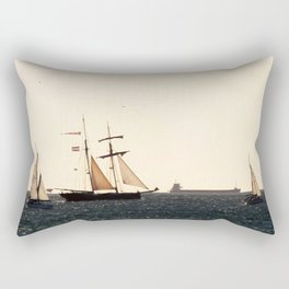 Sailboats in a windy day Rectangular Pillow