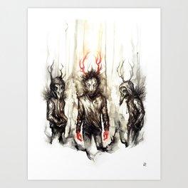 [CanisLupus CorvusCorax ] Art Print