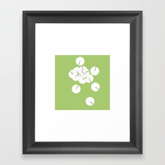 #250 Ping pong – Geometry Daily Framed Art Print