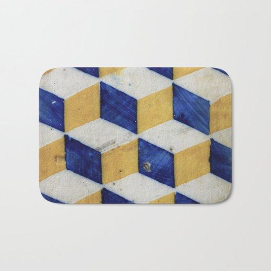 Portuguese tiles pattern Bath Mat
