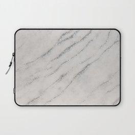 Marble Silver Glitter Glam #1 #shiny #gem #decor #art #society6 Laptop Sleeve