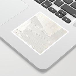 Relief [1]: an abstract, textured piece in white by Alyssa Hamilton Art Sticker