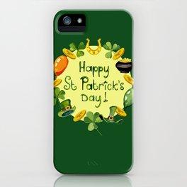 Happy St Patrick`s Day iPhone Case