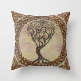 Celtic Tree of Life II Throw Pillow