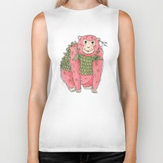 Peachtree The Chimp in Red Biker Tank