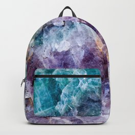 Turquoise & Purple Quartz Crystal Backpack