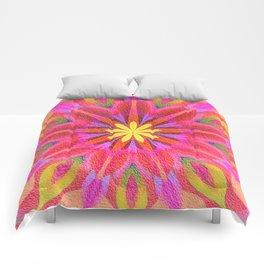 Groovy Floral Burst Oil Comforters