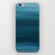 Blue Greenish Brush iPhone & iPod Skin