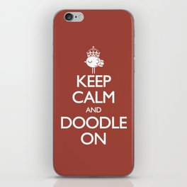 Keep Calm & Doodle On (Red) iPhone Skin