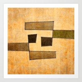 Protoglifo 03 'brown dance' Art Print