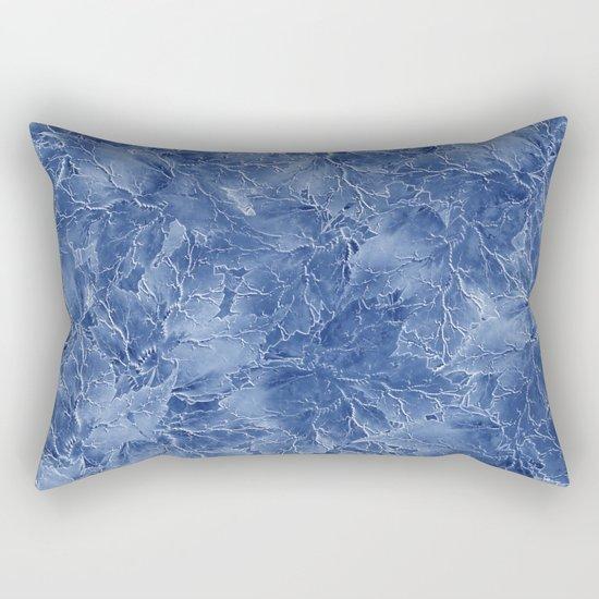Frozen Leaves 14 Rectangular Pillow