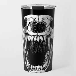 Bear Skull Shadow Outline Outdoor Hunting Rustic Design Travel Mug