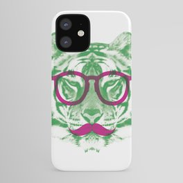 NERDY HIPSTER TIGER iPhone Case